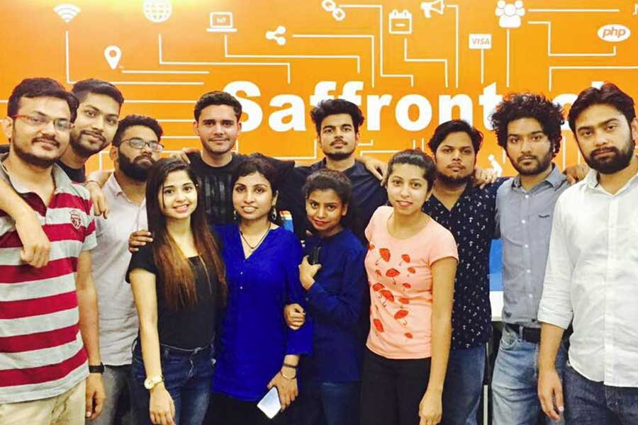 Employee Training Session Amplified in Saffron