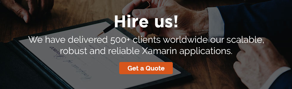 Hire Us for Xamarin