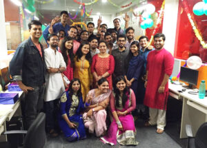 This Diwali Saffron Tech Family vibrated together in celebration and prosperity